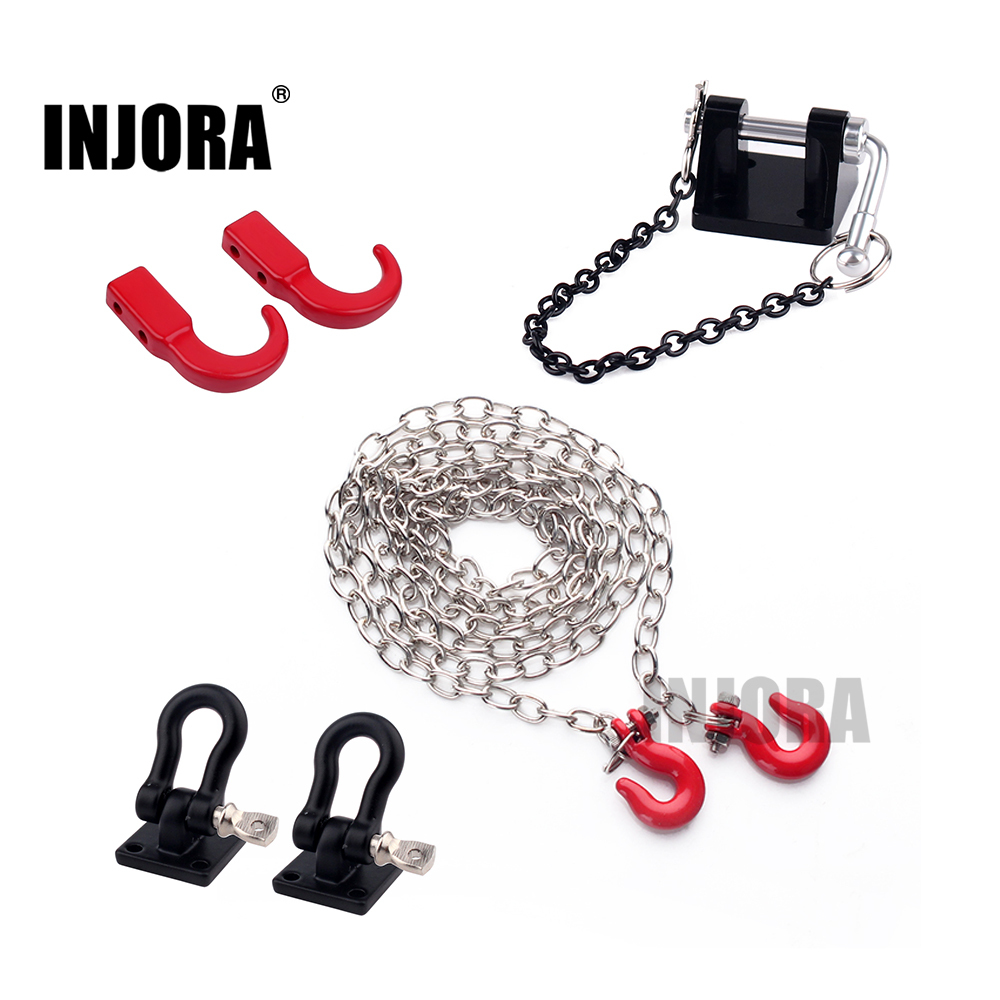 RC Car Metal Tow Hook Chain Decoration For 1:10 RC Rock Crawler Traxxas TRX-4 Axial SCX10 90046 Wraith D90 TF2 Tamiya CC01