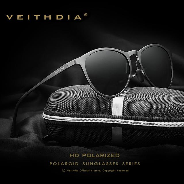 Unisex Retro Marca de Alumínio E Magnésio VEITHDIA Óculos Acessórios Óculos de Lente Polarizada Óculos De Sol Do Vintage Óculos de Sol Dos Homens/Mulheres 6625