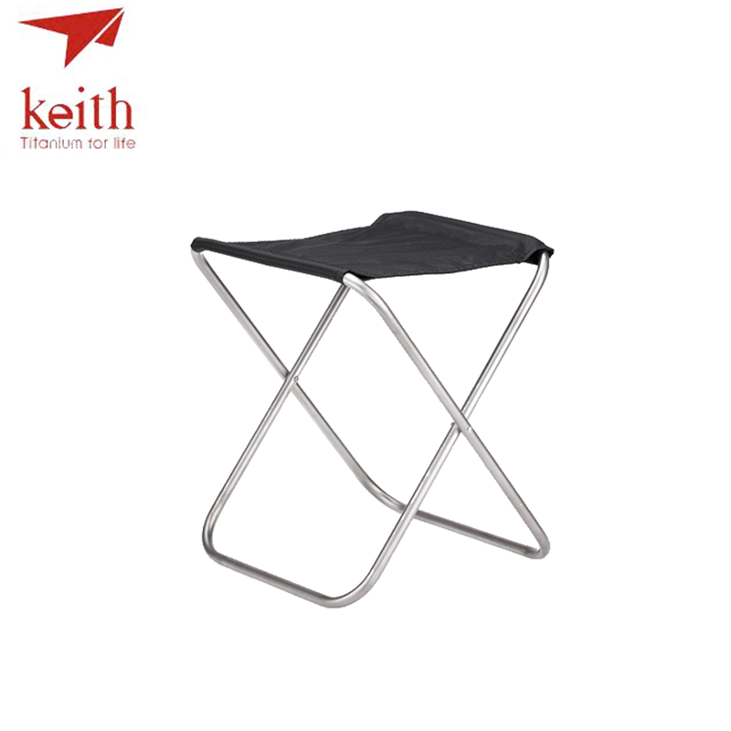 Keith Titanium Chair Outdoor Fishing Folding Chairs Super Light 247g Ti2501 outdoor traveling camping tripod folding stool chair foldable fishing chairs portable fishing mate fold metal chair