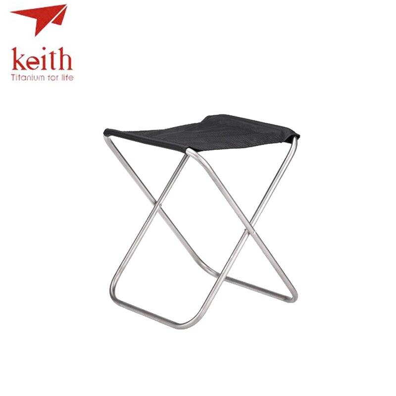 Keith chaise en titane pêche en plein air chaises pliantes Super léger 247g Ti2501