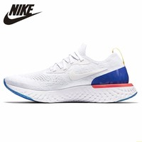 Epic React Flyknit Men's Running Shoes White Breathable Non slip Shock absorbing Abrasion Resistant Sneakers #AQ0067 101