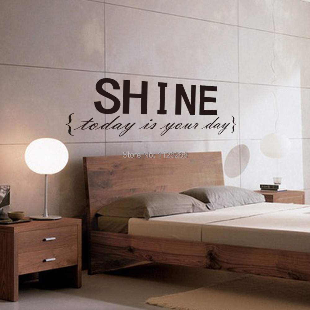 compare prices on wall decor stickers quotes online shopping buy vinyl wall stickers quotes shine removable decorative decals for bedroom decor china