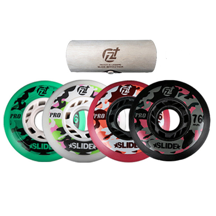 8 Pcs Original Freezy Camouflage Collection Skating 90A Wheels FZ Slide Pro Roller Skates Wheel For