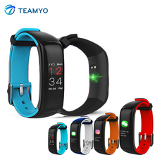 Фотография Teamyo P1 Smart Wristband Blood Pressure Watch Fitness bracelet cicret Activity tracker Heart rate monitor cardiaco pedometer