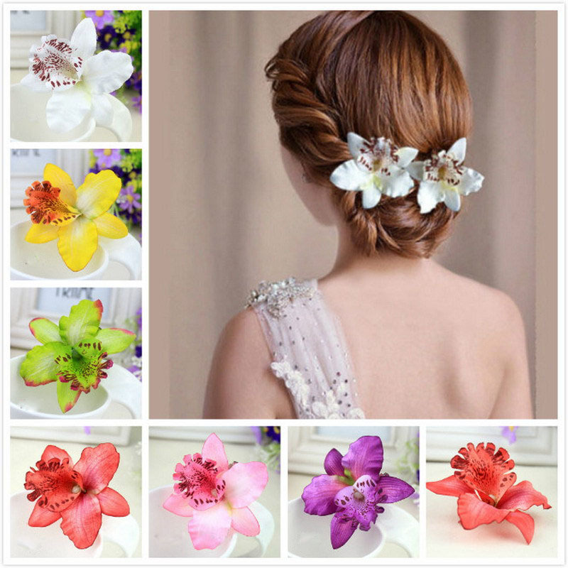 Orchid Peony FlowersHairpins for Women HairAccessories for Beach 7 Colors Available
