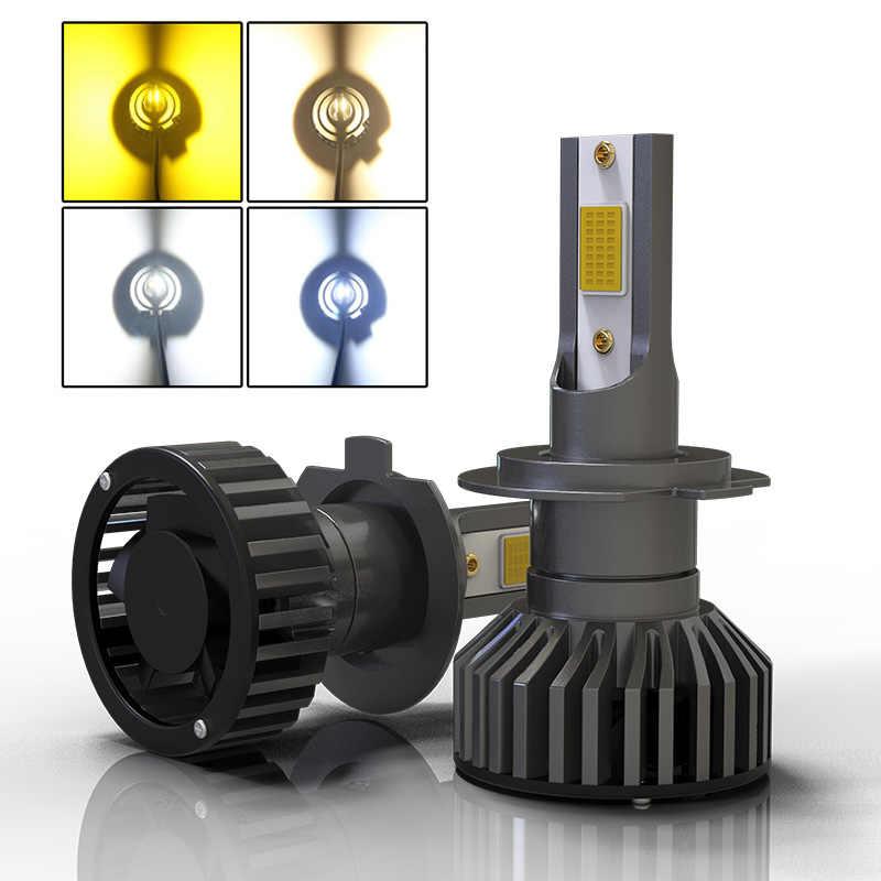 Car Headlight Mini LED H4 H7 12V 24V 80W 12000LM H1 H11 HIR2 H16 9005 HB3 9006 HB4 H8 3000K 4300K 6000K 8000K Bulb Accessories