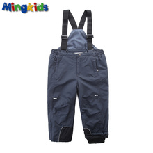 Mingkids Winter Snow overall for boy seams taped Waterproof Windproof Ski pants Light Insulated durable material loose European