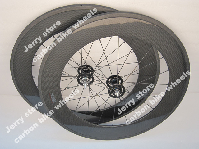 88mm tubular carbon fiber road track wheels fixed gear font b bicycle b font wheels 700C