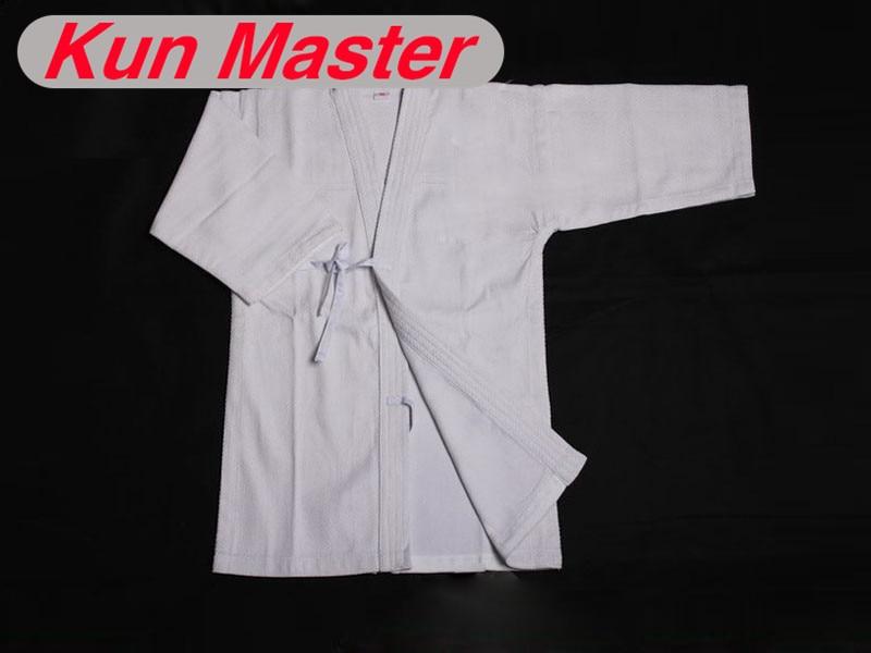 Kendo Uniform High Quality Kendogi Martial Arts Apanese Kendo Laido Aikido Hapkido White Color (Top Only) цены