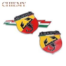 3D Car Metal Adhesive Badge Emblem logo Decal Sticker scorpion for Fiat 500 Punto Bravo Stilo Panda Abarth 500 car styling