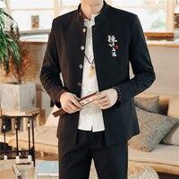 2019 New China Retro Style Embroidery Men Suit 2 Piece Set Large Size XXXL 4XL Slim Design Men Suit Jacket and Lace up Trousers