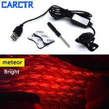CARCTR USB LED Car Decorative Lamp Auto Light Meteor Star Starry Sky Atmosphere Lights Christmas Interior Ambient