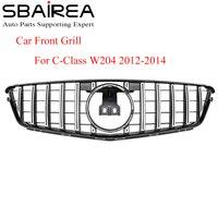 SBAIREA W204 GTR Grill Without Emblem for Benz C Class Car Front Autogrill For c180 c200 c230 c250 c280 c300 c350 2012-2014