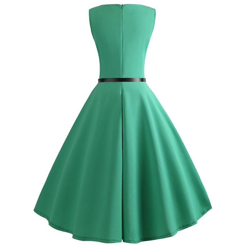 Blue Vintage Swing Dress 96