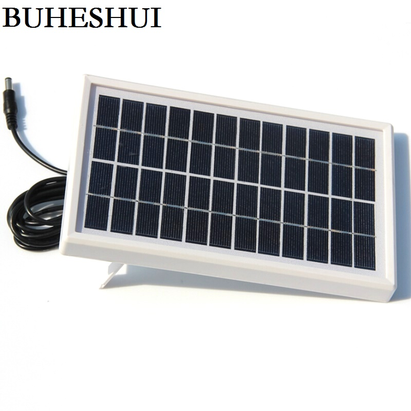 BUHESHUI 3W 12V Solar Cell Module Polycrystalline DIY Solar Panel System For 9V Battery Charger +DC 5521 Cable 3M Free Shipping