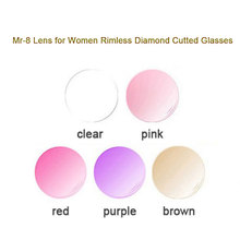 MR-8 Lenses for Women Rimless Diamond Cutted Glasses Frame,Customized Shape Choices and Optional Colors