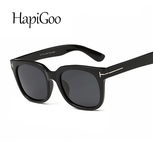 b4ced008498 HAPIGOO Fashion Classic Tom Polarized Men Square Sunglasses Women Vintage  Brand Designer Coating Mirrored Driving Sun Glasses