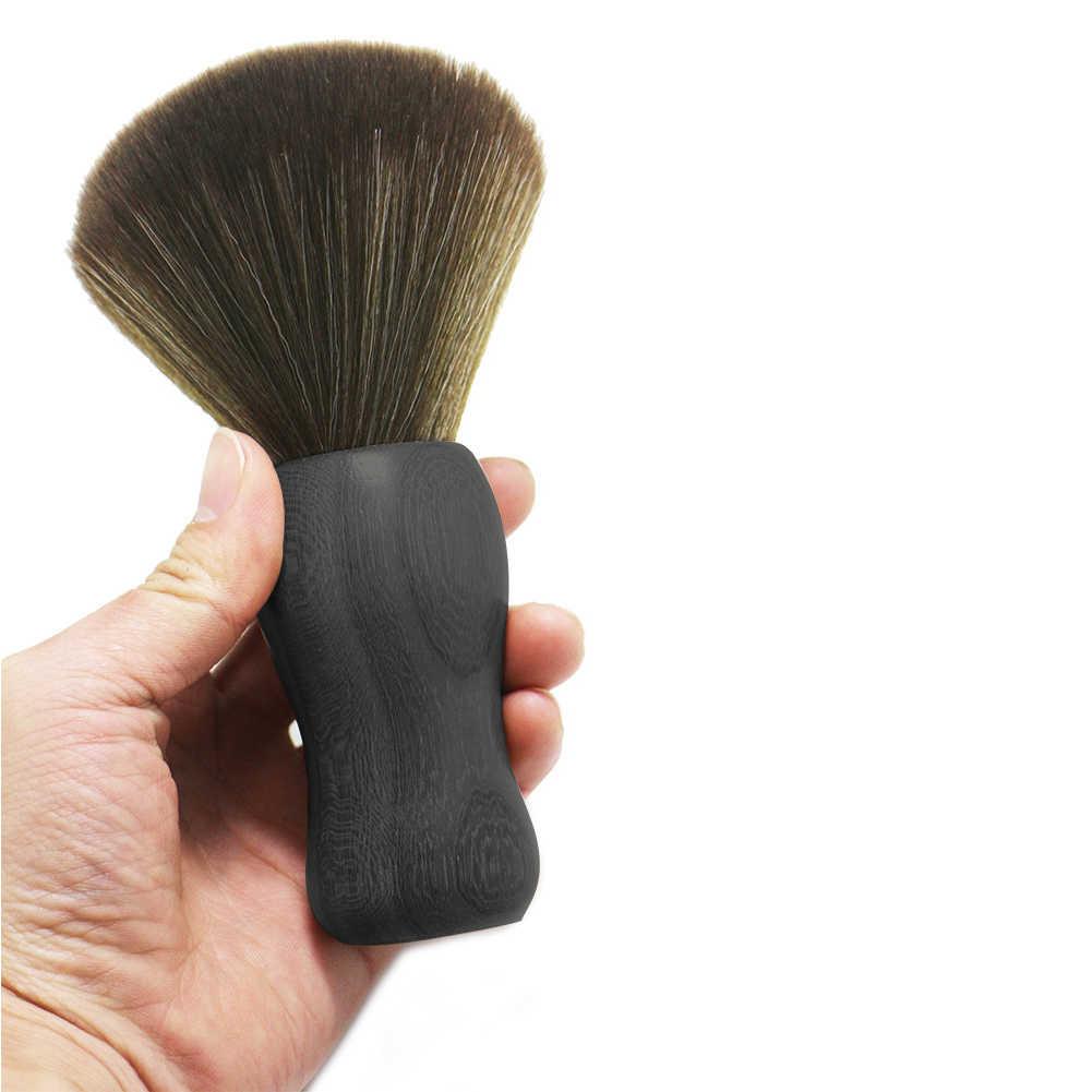 Модная деревянная ручка для стрижки волос профессиональная горлышко метелка Экологичная мягкая меховая салонная резка лица прочная очистка семьи