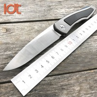 LDT Piston Tactical Folding Knives Titanium Carbon Fiber Handle D2 Blade Ball Bearing Knife Camping Outdoor