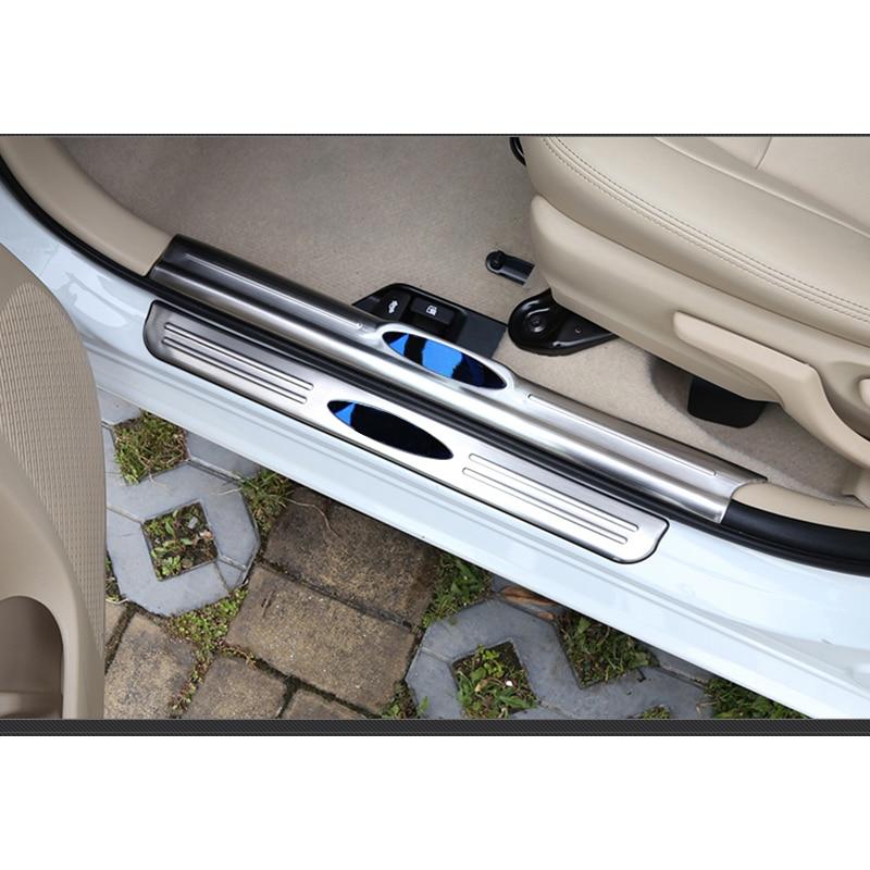 lsrtw2017 stainless steel car door sill for toyota vios yaris sedan 2013 2014 2015 2016 2017 2018 2019 Car threshold bar