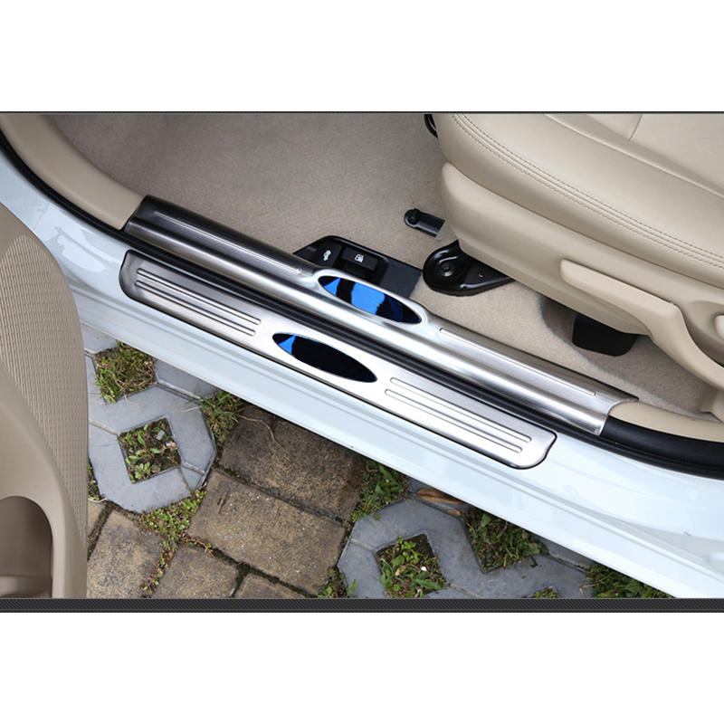 lsrtw2017 stainless steel car door sill for toyota vios yaris sedan 2013 2014 2015 2016 2017 2018 2019 Car threshold bar