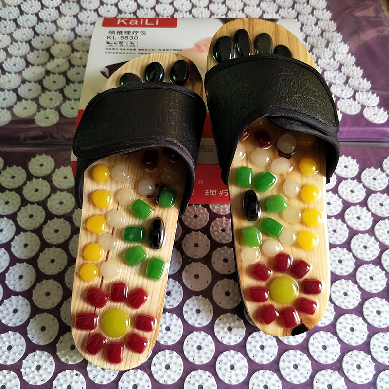 New!!Pebble Massage Points Care foot Massage Shoes /Summer Cultivation Of Men And Women Home Slippers Cool Stone  natural pebble foot massage slippers point massage shoes men and women couple home skid shoes tb20903