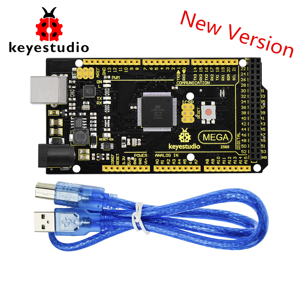 New Keyestudio Super Mega 2560 R3 Advanced 5V 2A MP2307DN SOP 8 +USB Cable For Arduino Mega