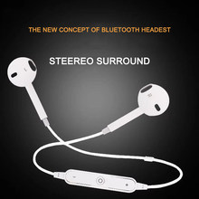 S6 Earphone Bluetooth Earphone phone For iPhone Xiaomi All intelligent Phone Neckband sport headphone Auriculare CSR Bluetooth(China)