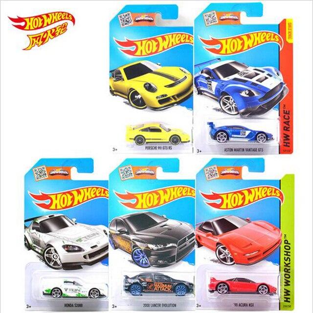 1 PCS Original Hot Wheels Car Basic Car Toy Mini Alloy Collectible Model HotWheels Cars Toy For Children C4982 Sent Random 2