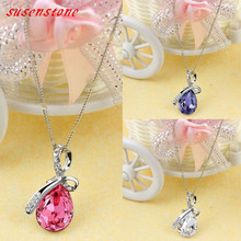 Necklace Pendant Women Rhinestone Chain Crystal Jewellery
