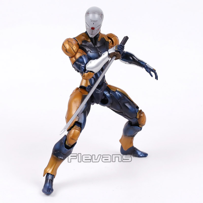 Play Arts Kai Metal Gear Solid Cyborg Ninja Gray Fox PVC Action Figure Collectible Model Toy