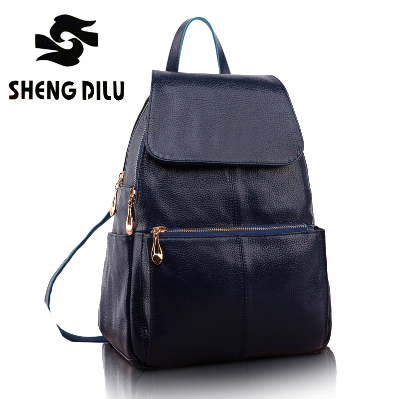 shengdilu brand new 2017 100% genuine leather women shoulder bag backpack Free shipping school bags mochila Fall and winter 1072 цена