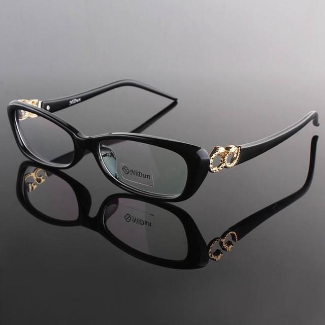 2016 New Arrival Mulheres Gato Olho óculos de Policarbonato Miopia Óculos Óptica Enquadrar Óculos de Aro Cheio de Prescrição Espetáculo quadro