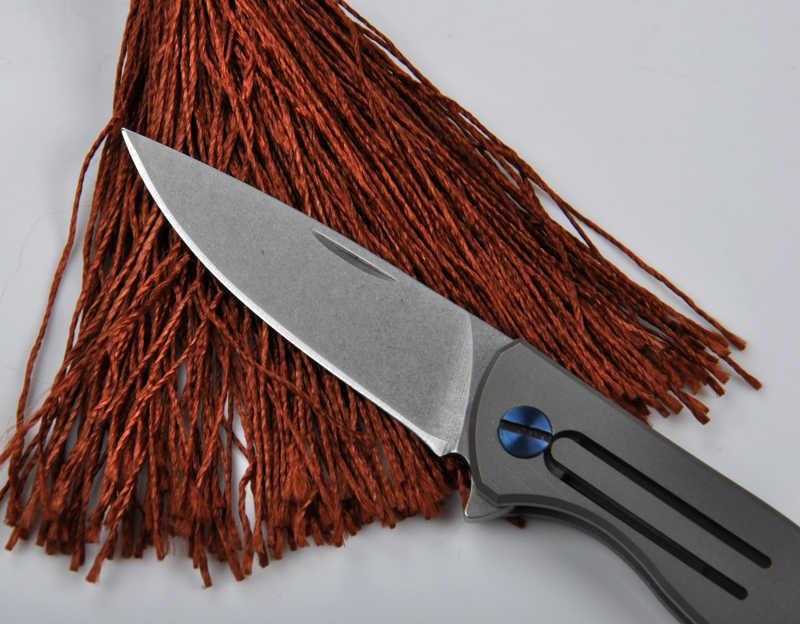 Высокое качество D2 лезвие Титан сплав ручка мини карманный складной нож для фруктов ключ ножи инструмент повседневного ношения
