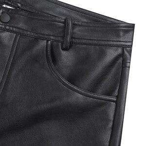 Image 2 - Iiniim pantalones cortos bóxer de piel para hombre, negros, con bolsillos y cierre de cremallera, ropa de fiesta para discoteca