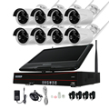 4CH 8CH 720P 960P 10 Inch Displayer Wireless CCTV System NVR IP Camera IR-CUT Bullet CCTV Home Security System CCTV Kit