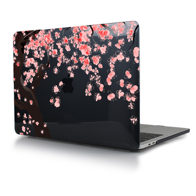 Beautiful Cherry Flowers Crystal Hard Case Cover For 2016 New Mac book Pro 13 15 with Touch Bar Pro 13 Non Touch Bar A1708