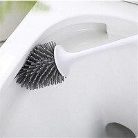 Ev ve Bahçe'ten Temizlik Fırçaları'de Tuvalet Fırçası Kauçuk Kafa Tutucu Temizleme Fırçası Tuvalet Duvar Asılı Ev Zemin Temizleme Banyo Aksesuarları
