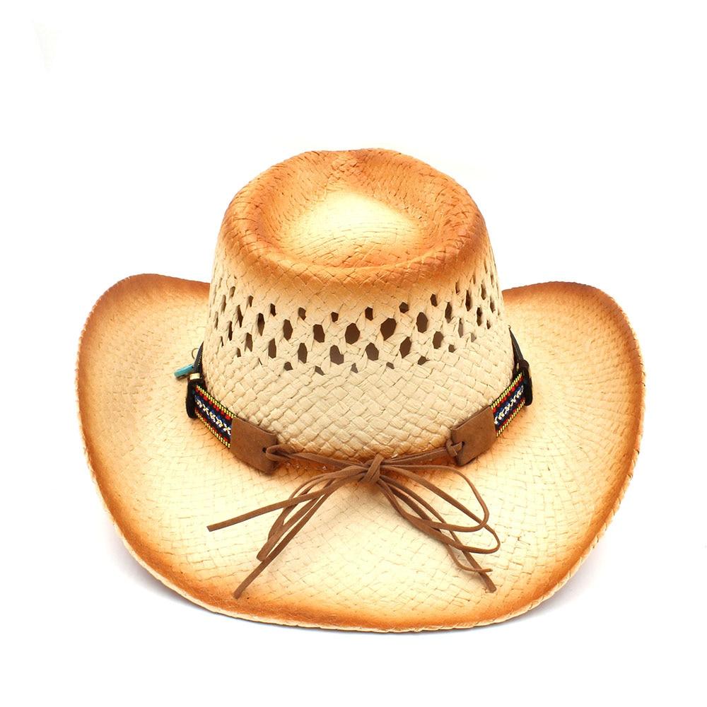 Aliexpress.com  Comprar 100% hecho a mano de la armadura mujeres paja  Sombrero de vaquero occidental con borla Ribbion señora Beach Sun Sombrero  gorra ... 8401244c54d