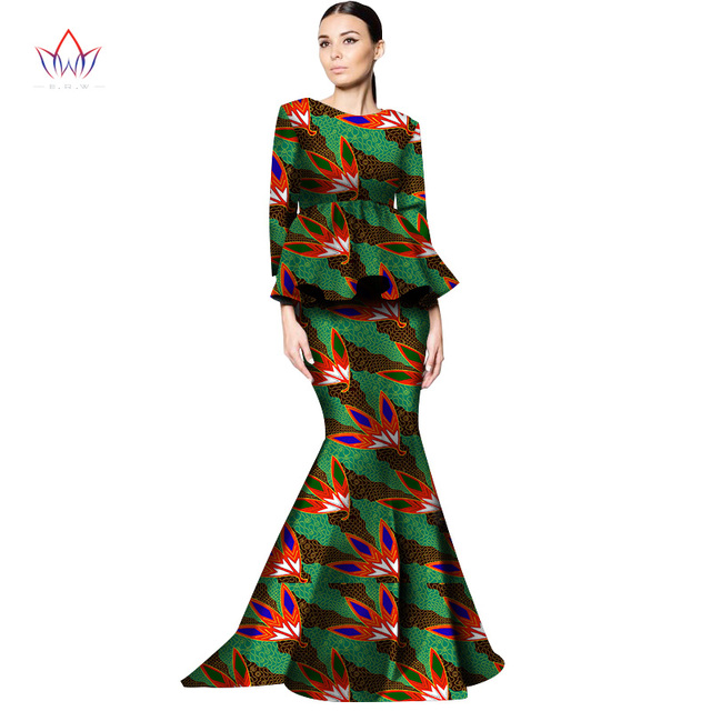 c5bf615da7 2017 New Style Women African Clothing Print Dashiki Women 2 Piece Skirt Set  Long Skirts and Top Plus Size African Clothes WY1329