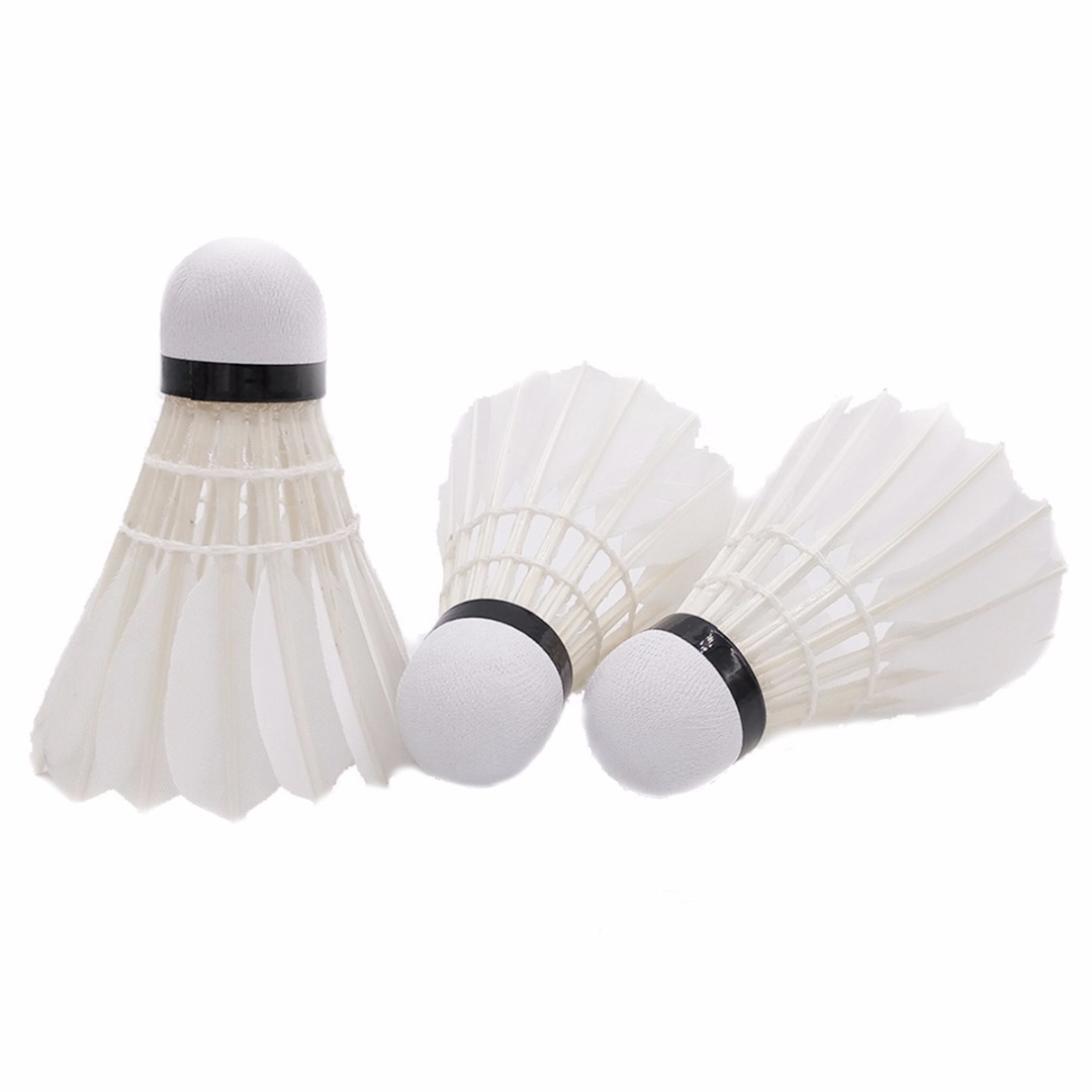 New 15PCS Professional Badminton Balls A60E White Goose Feather Training Badminton Ball Shuttlecocks With Tube Balls Accessories
