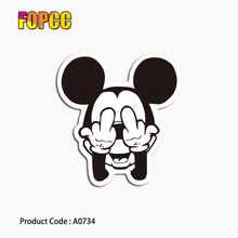 Brinquedo dos desenhos animados de mickey mouse Adesivos para crianças Engraçado DIY Decalques Telefone Estilo Home Decor Laptop Etiqueta Do Carro Da Bagagem(China)