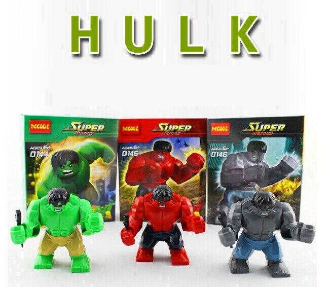 3pcsset Colorful The Avengers Hulk Building Bricks Sets Block