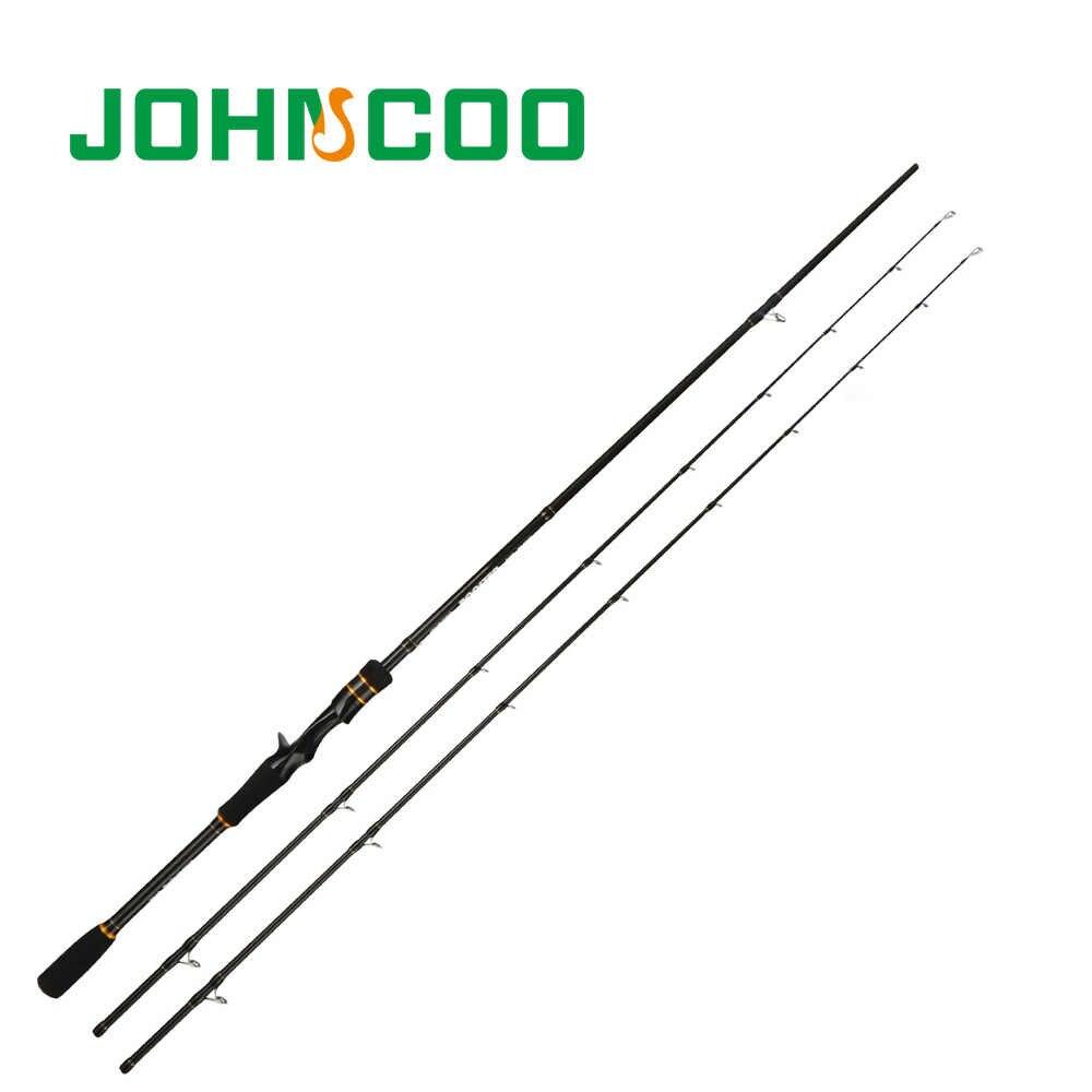 Ex-canne à pêche rapide 2.1m 2.4m tige en carbone ML/M 2 embouts 5-28g tige de filature coulée légère tige de gigue 2 Sections Johncoo booster