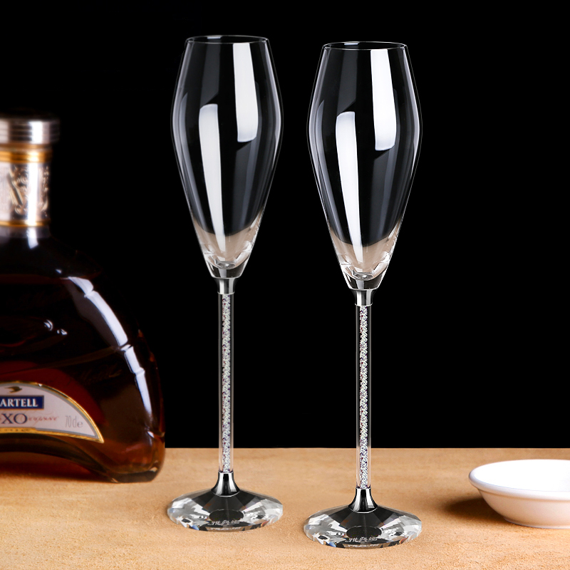 Us 33 63 13 Off Creative Belly Champagne Flutes Serial Lead Free Crystal Red Wine Gles Tail Gl Goblet Lover Birthday Gifts Cup In