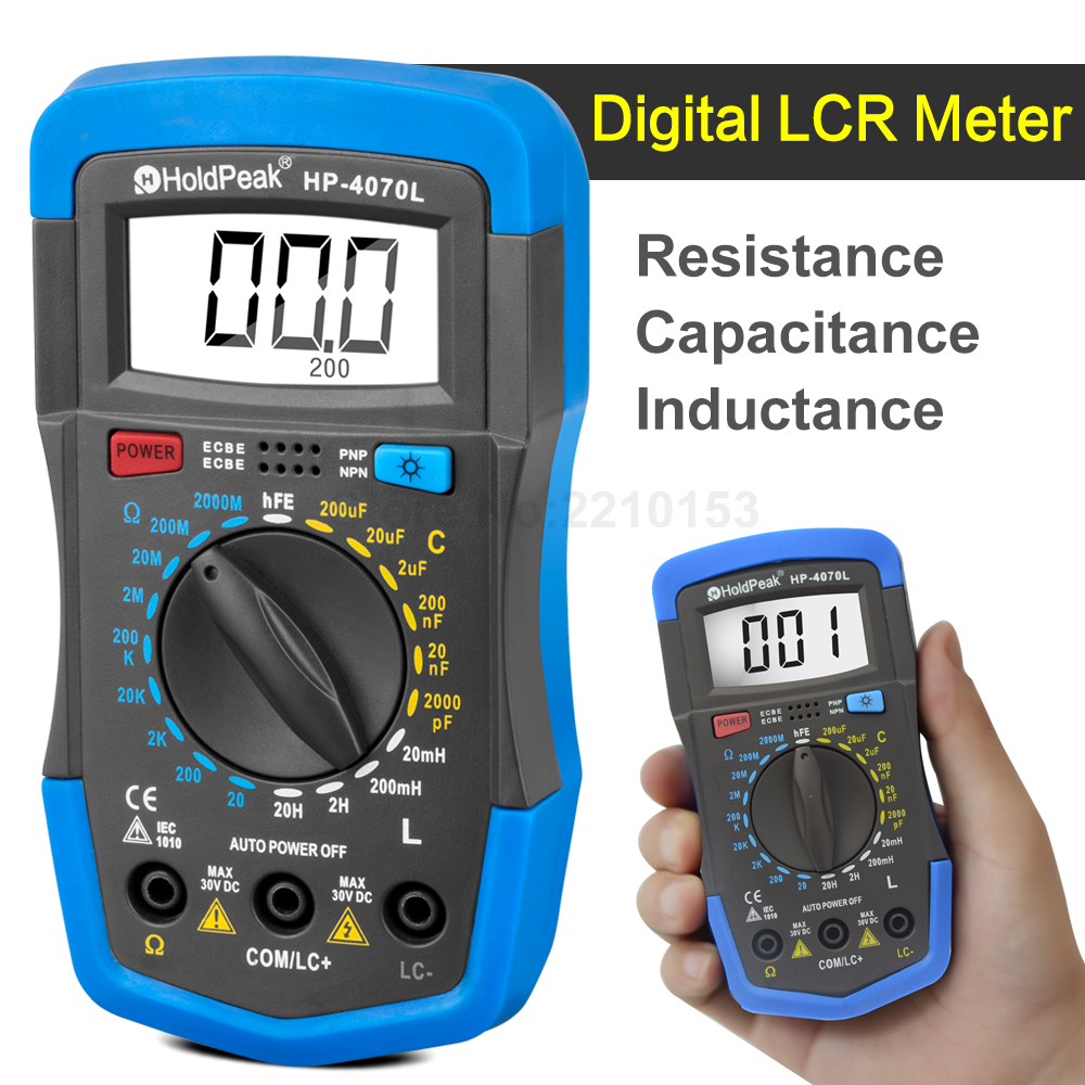 Dy4070g Handheld Lcr Meter For Digital Multimeter Capacitance Is Sale Professional 200khz Benchtop Bridge 3 1 2 Resistance Inductance Hfe Test Back Light