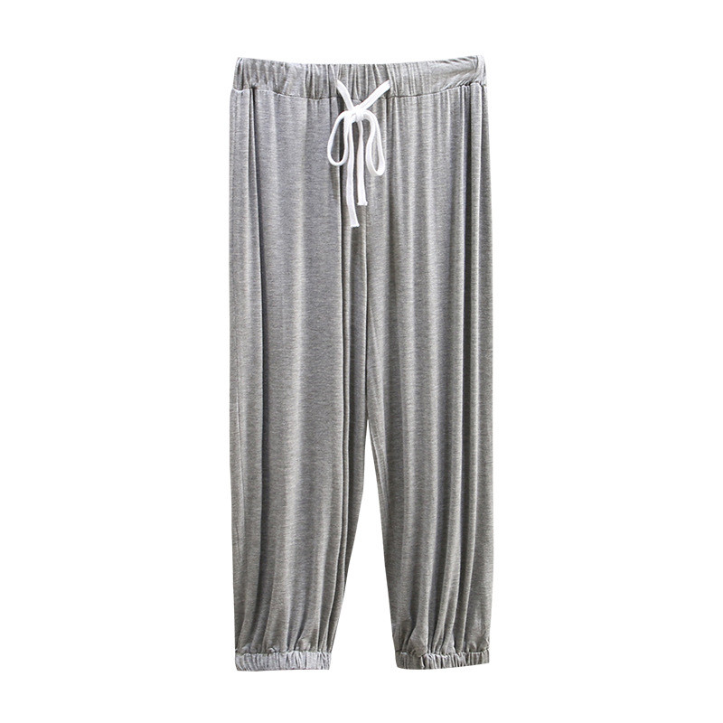 New Plus size 4XL Modal stretch casual   pants   women summer Cozy Loose Elastic waist Ankle-Length   Pants   female   Wide     leg     pants   G478