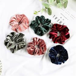 Женские бархатные резинки для волос, одноцветные резинки для волос, заколки для волос, эластичные резинки для волос, аксессуары для волос