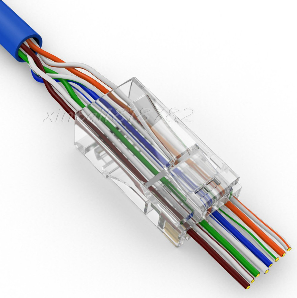 4pcs Tooless Ethernet Cat5e Rj45 Plug Network T Bh Keystone Cat6 Jack Wiring Diagram Cat 6 Luxury How To Fix Connector Embellishment Best Images For