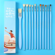 12Pcs/set Watercolor Paint Brush Set Multifunction Different Material Paint Brush For Gouache/Acrylic/Oil Painting For Drawing